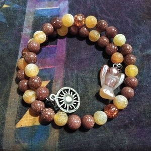 Fire Energy Guardian Angel Wrap Bracelet